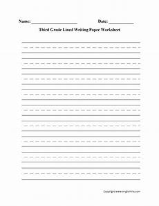 handwriting worksheets for third grade 21947 15 best images of lined paper worksheets 4th grade essay writing printable lined writing