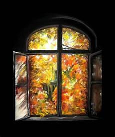 Fenster Malvorlagen Herbst Fenster Zum Herbst