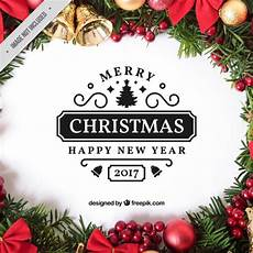 fantastic merry christmas label vector free download
