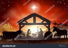 christmas christian nativity baby jesus stock vector