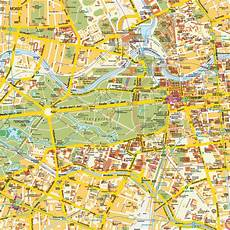 Map Berlin City Center Germany Central Downtown Maps