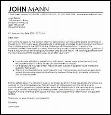 sales analyst cover letter sle cover letter templates exles