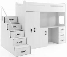 etagenbett mit schrank etagenbett hochbett nina mit schreibtisch und schrank