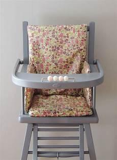 coussin de chaise haute liberty enduit poppy and demeure