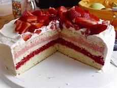 S Ofen Erdbeer Sahne Torte