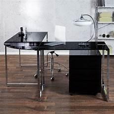schreibtisch schwarz glas cag 252 design glas eckschreibtisch schreibtisch manhattan