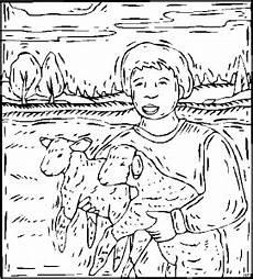 junge mit laemmern ausmalbild malvorlage tiere