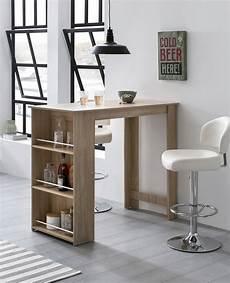 Küche Mit Bartresen - finebuy bartisch 120 x 107 5 x 60 cm holz stehtisch
