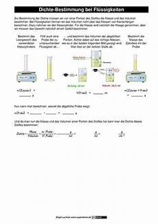 chemie dichte berechnen die dichte umstellen der formel