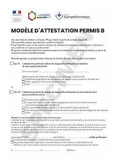 financement permis d mod 232 le d attestation permis b financement cpa cpf startdoc