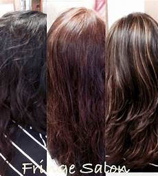 dying hair lighter with box dye before and after transformation color from black box dye