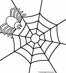 Window Color Malvorlagen Spinne Spider On Web Coloring Page
