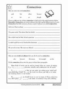 3rd grade 4th grade writing worksheets connectives connecting words fourth grade writing