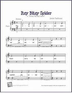itsy bitsy spider in 2020 sheet music beginner piano music printable sheet music