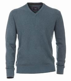 casa moda s jumper with v neck in melange look