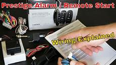 pursuit prestige aps997e alarm remote start wiring explained in detail youtube