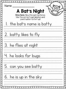 writing sentences punctuation worksheets 22216 included in this packet are 15 october themed fix it up sentences worksheets 86 sentences total