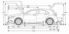 Mercedes A Klasse W176 Technische Daten - mercedes a klasse w176 abmessungen technische