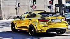 gold bmw x6m custom hamann supreme edition 1 cars