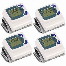 do automatic blood pressure machines read high 4pack blood pressure monitor wrist digital high blood pressure cuff heartbeat tester w 60