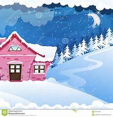 Malvorlage Haus Mit Schnee Haus Abgedeckt Mit Schnee Vektor Abbildung Illustration