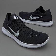 womens nike free run flyknit black white womens shoes