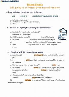 future tenses online worksheet and pdf