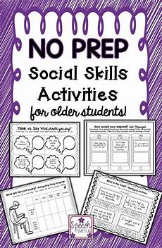 no prep social skills for older students teaching social skills social skills lessons social