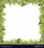 Christmas Fir Tree Branch Frame Vector  SHOPATCLOTH