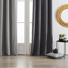 rideaux gris rideau 224 oeillets quot ocea quot 140x260cm gris