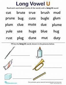 learning long vowels long u words 2 worksheet education com