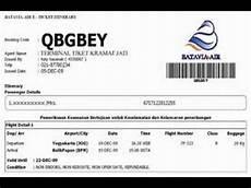 cara cek dan cetak tiket pesawat pake kode booking youtube