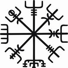 asatru viking compass rune vegvisir black vinyl