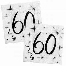 wei 223 e partyservietten mit schwarzen aufdruck f 252 r den 60