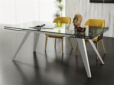 tavolo vetro tavolo allungabile in vetro con gambe in metallo track