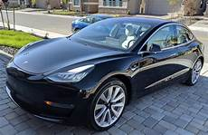 tesla model 3 black model 3 2018 black ce610 only used tesla