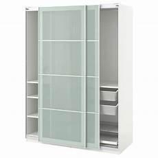 schrank ikea pax pax wardrobe white sekken frosted glass ikea