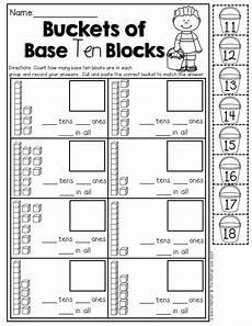 addition worksheets base ten blocks 8788 summer packet no prep review kindergarten with images kindergarten schools
