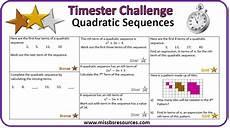 printables of quadratic sequences worksheet gcse geotwitter kids activities