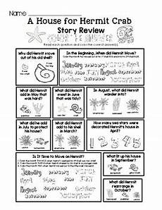 a house for hermit crab lesson plans a house for hermit crab story review worksheet set by