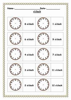 time worksheets and activities 2904 o clock handouts by ruthbentham teaching resources