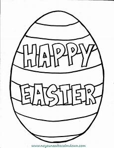 Malvorlagen Ostern Einfach Quot Happy Easter Quot Egg Coloring Page For Free Printable