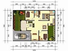 5 Contoh Gambar Denah Rumah Minimalis 3 Kamar Tidur Type