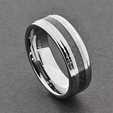 tungsten carbide wedding rings tungsten carbide ring comfort fit wedding band men silver