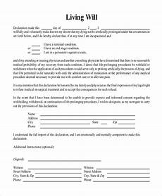 free 8 sle free living will forms in pdf ms word