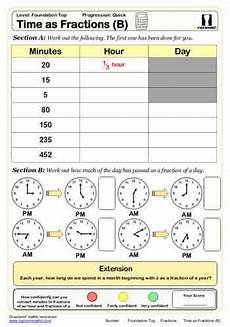 fraction timed worksheets 4125 time as fractions b maths worksheet math worksheet math for time worksheets