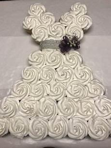 bridal shower cake cupcake pull apart wedding dress my