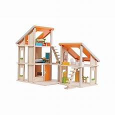 plan toy chalet doll house with furniture chalet dollhouse with furniture for kid s online best