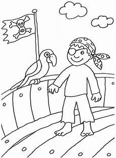 Piraten Malvorlagen Zum Ausmalen Kostenlose Malvorlage Piraten Pirat Mit Papagei Zum Ausmalen