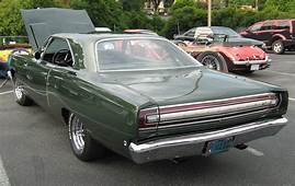 1968 Road Runner Green Rearjpg  Wikimedia Commons